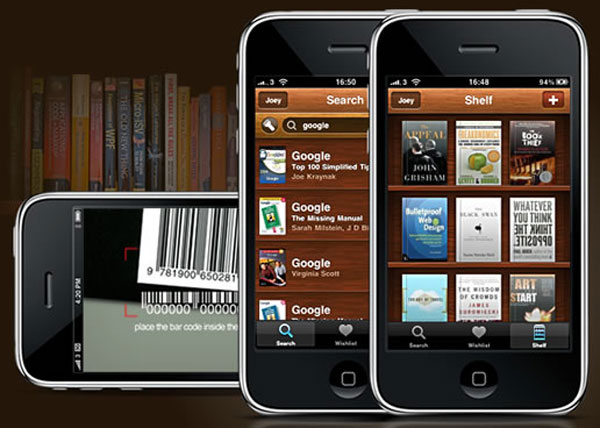 Il social network aNobii, molto popolare in Italia, vanta un'ottima applicazione per iPad e iPhone, che semplifica la catalogazione grazie alla scannerizzazione del codice a barre direttamente dalla copertina.