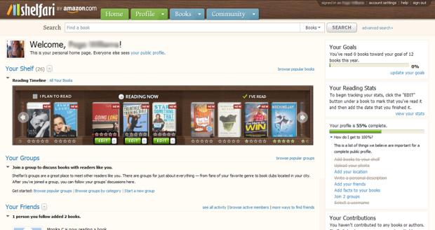 Shelfari è un servizio di social cataloging fortemente orientato all'ecommerce, dove i lettori oltre a costruire la propria libreria virtuale possono acquistare direttamente i volumi preferiti su Amazon.